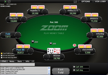Zoom Poker Tables