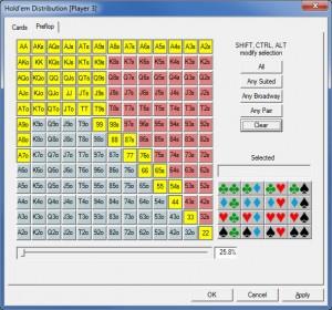 PokerStove Preflop Range